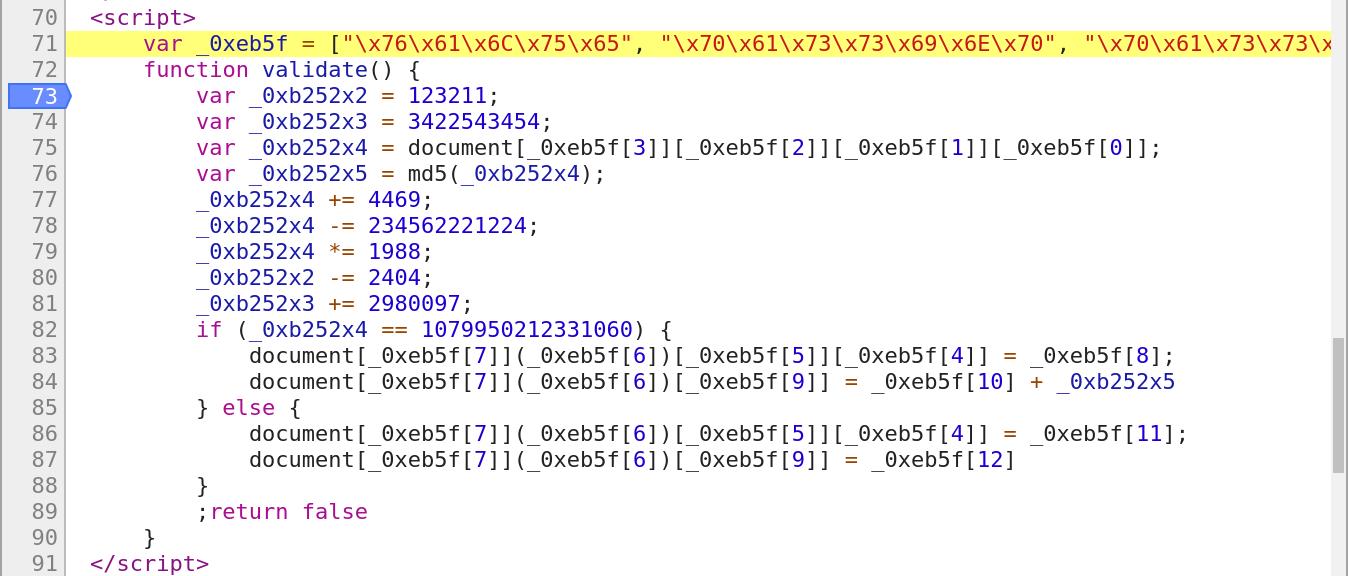 http://192.168.1.133/admin2/ - Pretty Print of the encoded javascript