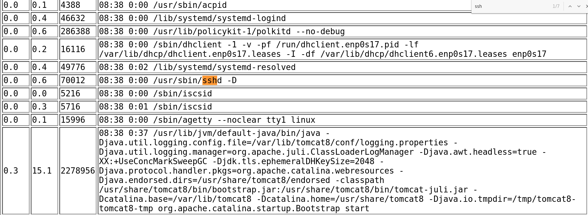 """Using the """"ps aux"""" command to enumerate the server - vulnhub CTF walkthrough - d7x"""