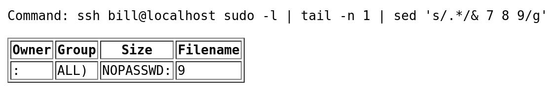 sudo privileges for user bill on target Depth 1 - vulnhub CTF walkthrough - d7x