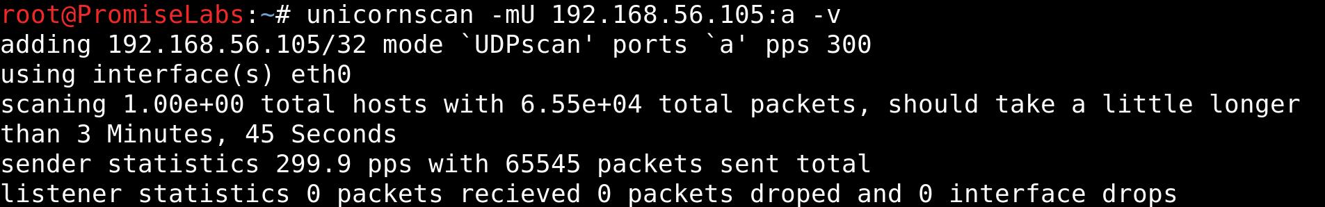 UDP Scan on taregt zico2 - vulnhub CTF walkthrough - d7x - PromiseLabs