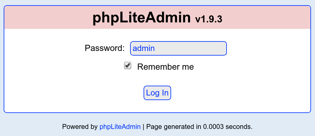 phpLiteAdmin 1.9.3 - Remote PHP Code Injection - d7x - PromiseLabs - blog
