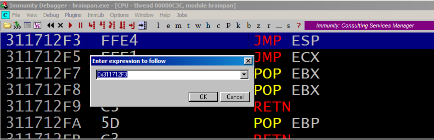 Brainpan 1 CTF walkthrough - Introduction to exploit development - d7x - PromiseLabs - blog