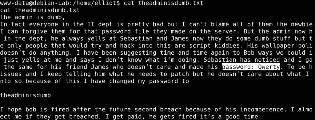 Password for user James (jc) is Qwerty - vulnhub CTF walkthrough - d7x - PromiseLabs - blog