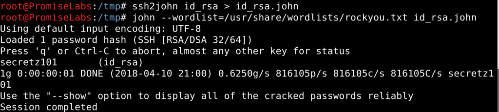 Brute-forcing an RSA passphrase using John